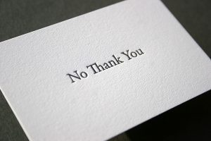"""Do you know when it's time to say """"no thank you""""? 1"""